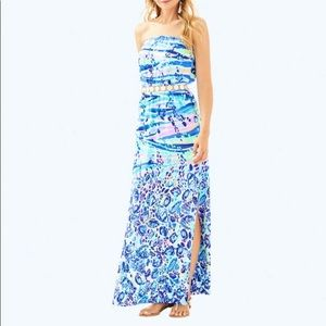 Lilly Pulitzer Mika Strapless Maxi Dress